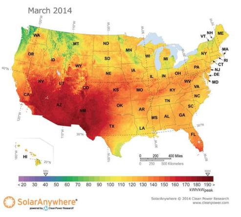 American Solar Energy Society - Solar panel map us