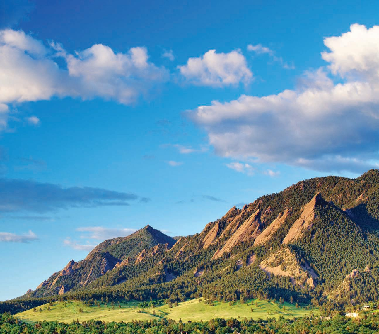 Solar Today Magazine Photo - Flatiron Mountains in Boulder Colorado - © beklaus