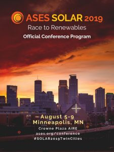 SOLAR 2019 Call For Participation – Closed | American Solar Energy