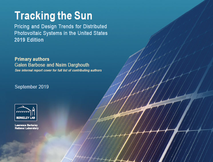 Berkeley Lab's Tracking the Sun Report Describes the Latest Distributed PV Pricing and Design Trends
